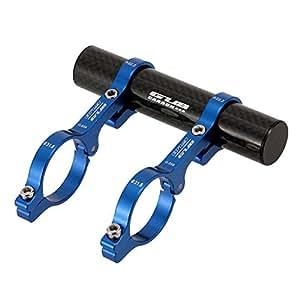 Lixada GUB 31,8 MM doppelte Lenker Erweiterung Mount Carbon Fiber Extender Halter für Fahrrad Licht Fahrrad Tacho