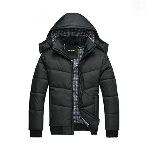 SRL Cappotto Invernale in Cotone Cappotto Invernale da Uomo Lungo Tratto  più Velluto Ispessimento Giacca di 9195617ba6c