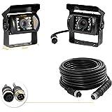 Camecho 12 V-24 V 4 Pins 18 LED IR Visión Nocturna Impermeable Cámara De Visión Trasera + 10 m cable de 4 pines para coche/Bu