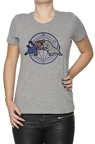 Vollmetall Verschmelzung Ha! Damen T-Shirt Rundhals Grau Kurzarm Größe M Women's Grey Medium Size M Chimera Medium Video