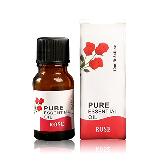 100% Pure Aroma Öle, Premium Therapeutische ätherisches Öl,10ml Naturreine Ätherische Öle für Beauty / Stressabbau / Baden / Körperpflege / Wellness / Schönheit / Aphrodisiakum / Aromatherapie / Entspannung / SPA / Massageöl / Aroma diffuser / Duftlampe / Aroma / Raumduft etc (Rose)
