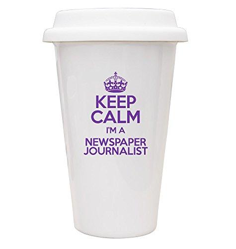 Violett Keep Calm I 'm a Zeitung Journalist Eco Tasse TXT 3398