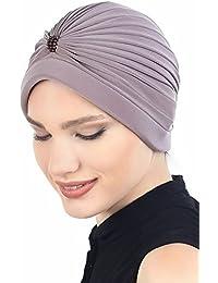 Turbante con perla para pérdida de cabello, cáncer