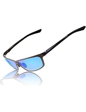 RONSOU Hombres Rectangulares Polarizadas Gafas de sol UV400 Gafas para Conducción Pesca Deslumbramiento al aire...