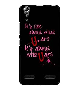 PrintDhaba Quote D-4901 Back Case Cover for LENOVO A6000 PLUS (Multi-Coloured)