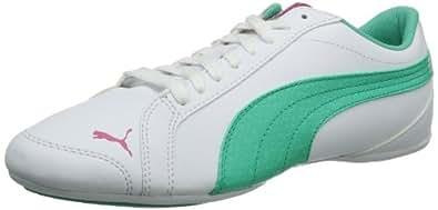 Puma Janine Dance NM Wn's 356196 Damen Sneaker, Weiß (white-electric green 01), EU 42.5 (UK 8.5) (US 11)