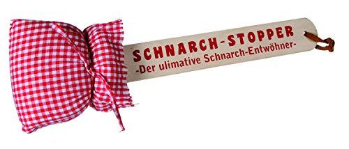Out of the Blue 76/5608 - Schnarch Stopper aus Holz mit Kissen, ca. 40 cm