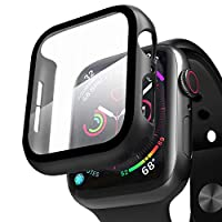 Compatible with Apple Watch Case Series 4 Series 5 Series 6 Series SE with Screen Protector 44mm, Beautyshow Overall Protective Cover Case for iWatch Series 4/5/6/SE, 44mm