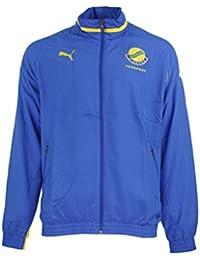 Puma Gabon Woven Jacket Men Gr. L Fegafoot blue Jersey