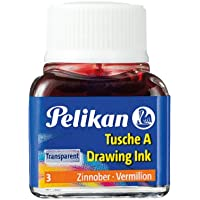 Pelikan 201525 - Tinta china 10 ml, color rojo, 1 unidad