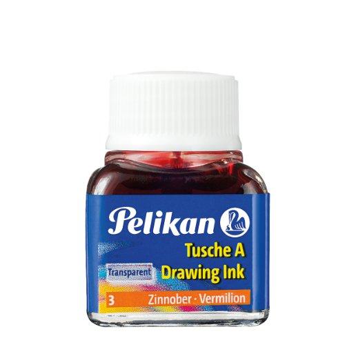 Preisvergleich Produktbild Pelikan A 523 Tusche A, 10 ml, zinnoberrot