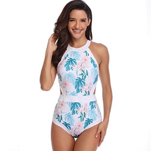 QingJiu Damen Mutter Und Tochter Drucken Badeanzug Badeanzug Passende Badeanzug Kleidung (Blau, Small)