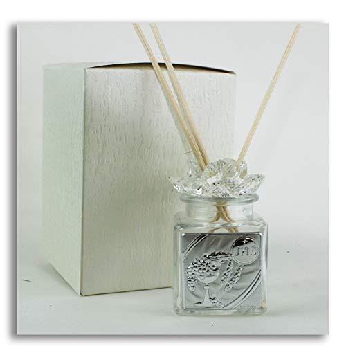 Dlm27669 diffusore profumatore fiore in cristallo per comunione barattolo bottiglia bomboniera