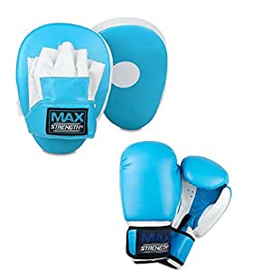 Focus pads boxing gloves 10oz martial arts training punching muay thai kickboxing equipment