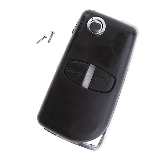 Homyl 2 Tasten Autoschlüssel Hülle Tasche Pad Auto Remote Flip Key Shell Fall Für Mitsubishi Grandis Outlander Pad Remote
