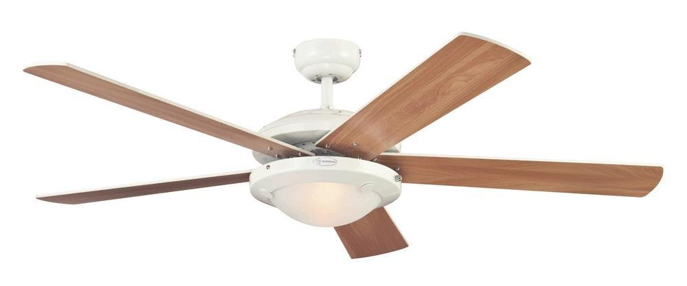 41jKf8bfHtL - Westinghouse Ceiling Fans 78017 Comet One-Light 132 cm Five Indoor Ceiling Fan, Frosted Glass, White Finish with…