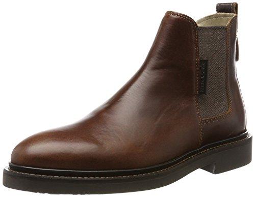 Marc OPolo Flat Heel 70824105001108, Stivali Chelsea Uomo Braun (Brandy)