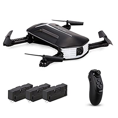 Goolsky JJR/C H37 Mini BABY ELFIE WIFI FPV 720P Camera Quadcopter Foldable G-sensor Mini RC Selfie Drone Two Extra Battery from Goolsky