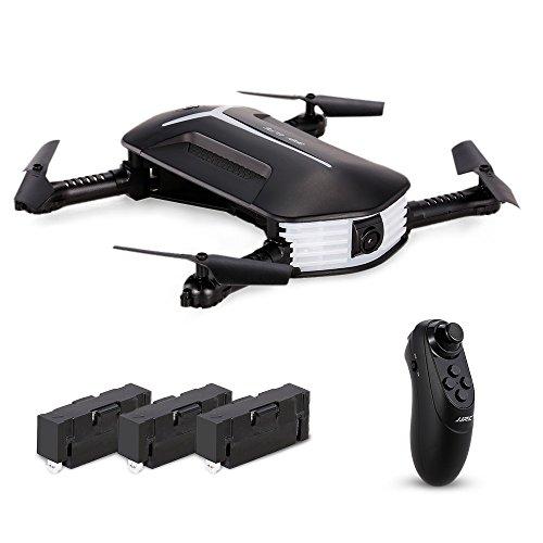 Goolsky JJR / C H37 Mini BIONDA ELFIE WIFI FPV 720P Fotocamera G-Sensore Pieghevole Mini RC Selfie Drone Due Batterie Extra
