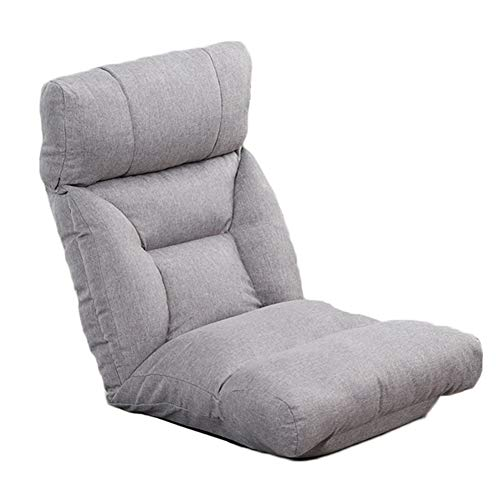6-Position Klappboden Gaming Sofa Stuhl mit Verstellbarer Kopfstütze und Rückenlehne, gepolsterte Lazy Recliner für Wohnzimmer, Schlafzimmer (Farbe : Beige, größe : 70cm×15cm×55cm)