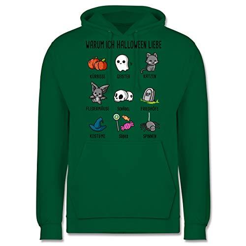 Shirtracer Halloween - Warum ich Halloween Liebe - XS - Grün - JH001 - Herren Hoodie