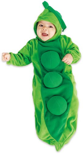 Rubie's Costume Co Deluxe Baby Bunting, Pea In The Pod Costume, 1 To 9 Months by (Pea Kostüme Baby)