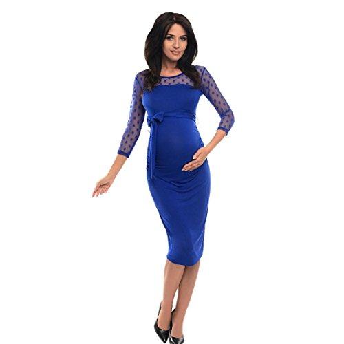 Vestir Mujer, Tefamore Lace Dots Siete Mangas Mujeres Embarazadas Vest