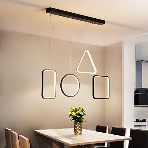 jinzhouwa Schwarz/Weiß Moderne Led Anhänger Kronleuchter Für Esszimmer Küche Bar Wohnzimmer Suspension Leuchte Glanz -