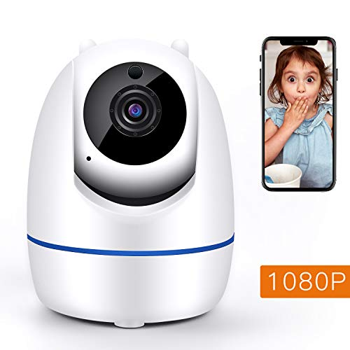 WLAN Kamera 1080P IP Kamera innen, Haustier Kamera Babyphone Kamera, Wireless Überwachungskamera mit Bewegungserkennung,Zwei-Wege-Audio,Nachtsicht,Cloud-Dienst