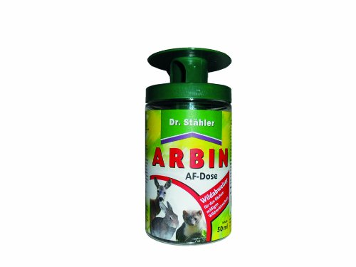 Dr. Stähler 005781 Arbin Wildabweiser, Duftzaun / Bezirksduftmarke gegen Wildtiere, Anwendungsdose inkl, 50 ml Lösung