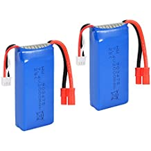 SODIAL(R) 2PCS 7.4V 25C 2000mAh R Plug Battery for Syma X8C X8W X8G Drone Quadcopter