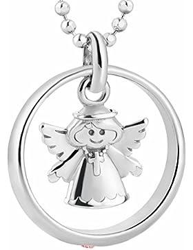 fish Mädchen Silberkette echt Silber Schutzengel-Anhänger Taufring Taufgeschenk rosa Geschenkverpackung, Geschenkideen...