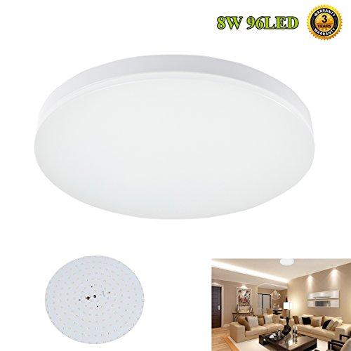Smart and Green Lighting LED Ceiling Lighting, 8W 4000K(Natural White) LED Flush Mount Ceiling Lights, 75W Incandescent Bulb Equivalent, Lighting   Fixture for Living Room, Bedroom,Hallway and Dining Room