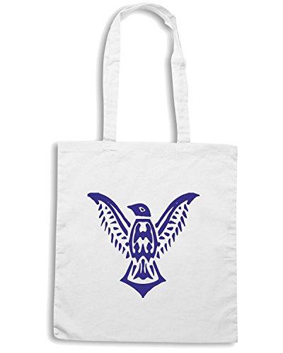 T-Shirtshock - Borsa Shopping FUN0783 bird birds animal car or wall vinyl decal sticker 12 96061 Bianco