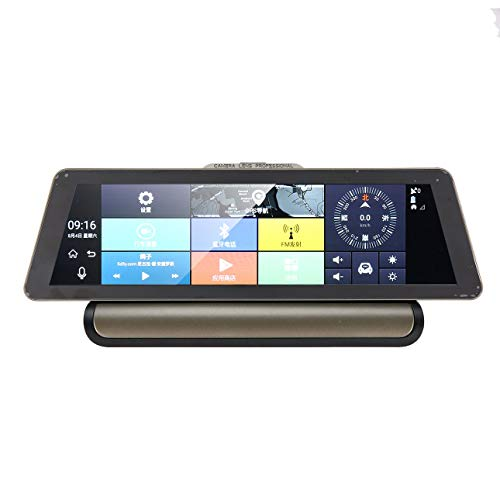 Ballylelly-10 Inch LCD Screen Car DVR Camera Android Video Recorder Dual Lens FHD GPS Navigation Dashcam Car Rearview Mirror of