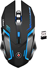 Offbeat RIPJAW 2.4Ghz Rechargeable Wireless Gaming Mouse, Silent Click Buttons Mouse - 7D Buttons, DPI : 1600,