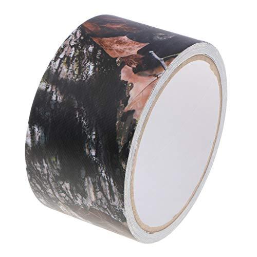 perfk Outdoor Klebeband Gewebeband Camouflage Isolierband selbstklebendes Schutzband für Kameras Objektive Fotografie Ausrüstung - 3D-Baum-Camouflage