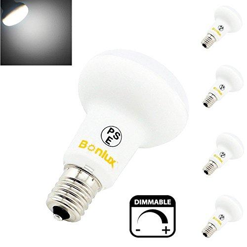 Bonlux 4-Pack 5W E14 R50 SES Regulable LED Bombilla de Luz Fría 6000K 220V Con Bajo Consumo, Larga Duración, Reemplazo a 40W Foco LED Bombilla