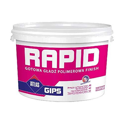 Gipsspachtel Wandspachtel Feinputz Gebrauchsfertig polymerverstärkt bis 3 mm ATLAS Gips Rapid 8Kg