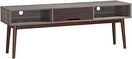 Maison Concept Glory Tv Table, Brown And Grey - H 550 X W 400 X D 1500 Mm