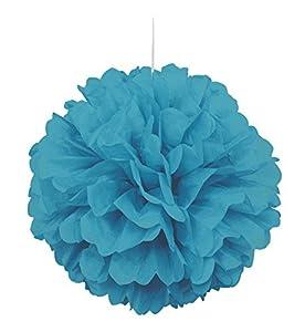 Unique Party Pompón de papel de seda Color azul cerceta 40 cm 63203