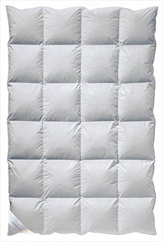 billerbeck Daunendecke E03 Colina Kassette IV mit Außensteg - extra warme Winterdecke 135x200 cm