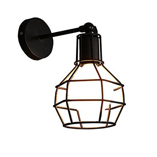 LIVY Industrielle Vintage einfache Spiegel Lampe dekorative Beleuchtung Granate Gang Treppen Wohnzimmer Wand Lampe eisernen Käfig kleine Wandleuchte Granate-lampe