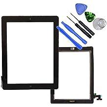 Hedywei Pantalla Táctil Digitalizador con botón home para iPad 2 + Adhesivo + Herramientas Negro