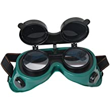 Verdes Gafas Flip Objetivo Hacia Arriba Soldadura Gafas