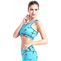 Sujetador de Yoga Azul Chaleco Sports Fitness recolecta Corriendo sin Fisuras a Prueba de Golpes Sujetador Deportivo Ajustable (tamaño : S)