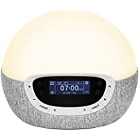 Lumie Bodyclock Shine 300 – Wake-up Light Alarm Clock with Radio, 14 Sounds and Sleep Sunset