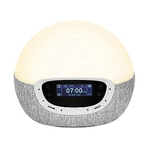 Lumie Bodyclock Shine 300 – Lichtwecker mit Radio, 14 Klängen und Einschlafsonnenuntergang