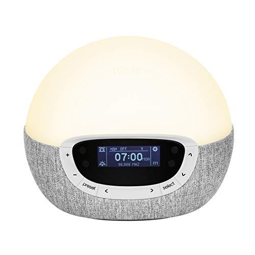 Lumie Bodyclock Shine 300 - Réveil et Simulateur d'Aube et de Crépuscule avec Radio et 14...