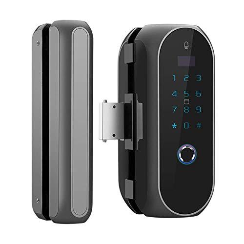 HXYL Fingerabdruck-Türschloss Keyless Entry Smart Thumbprint Lock, Glastür-Fingerabdruck-Schloss, Keine Bohrinstallation erforderlich (Außerhalb Türschloss)